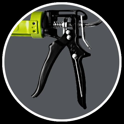 Caulk gun handle