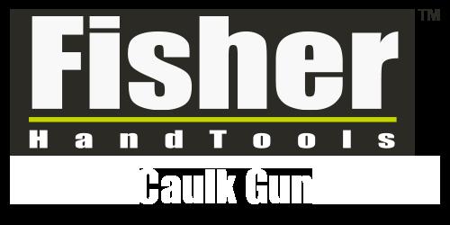 FIsher logo with caulk gun