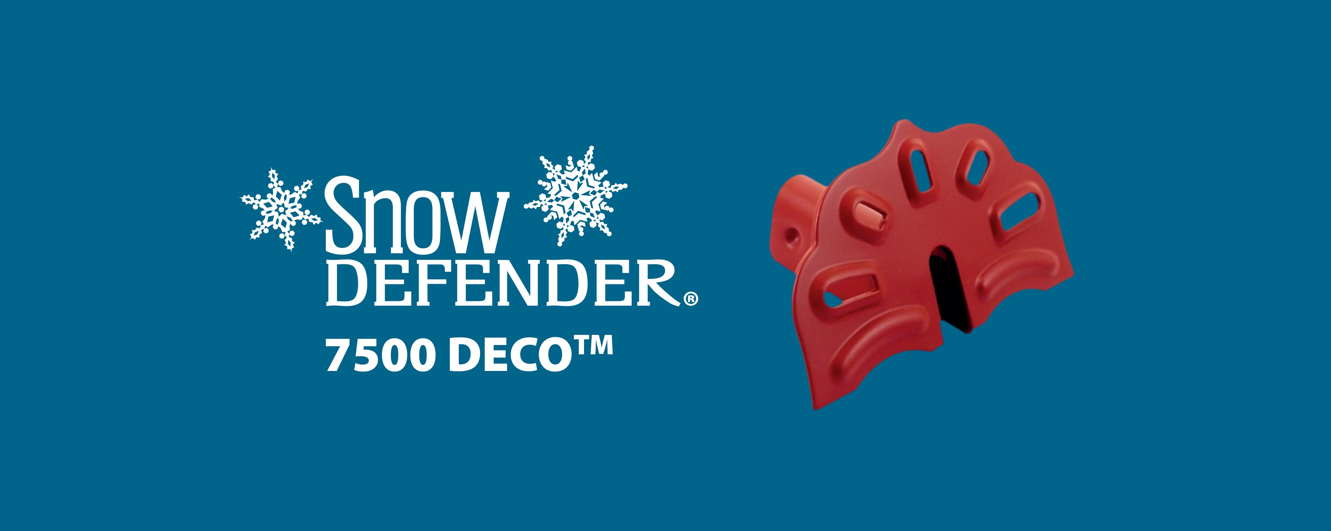 Snow Defender snow guard 7500 DECO for metal roofing and metal panel