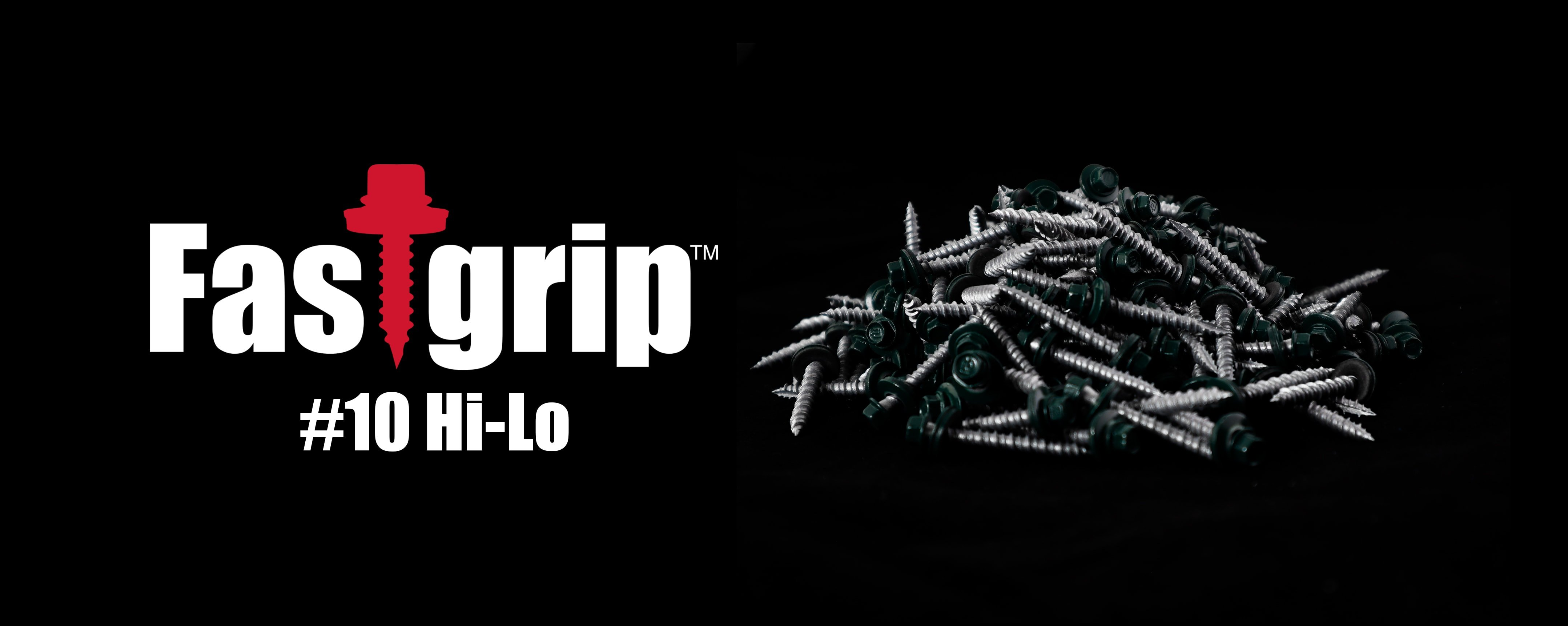 Fastgrip #10 hi-lo metal panel roofing screw