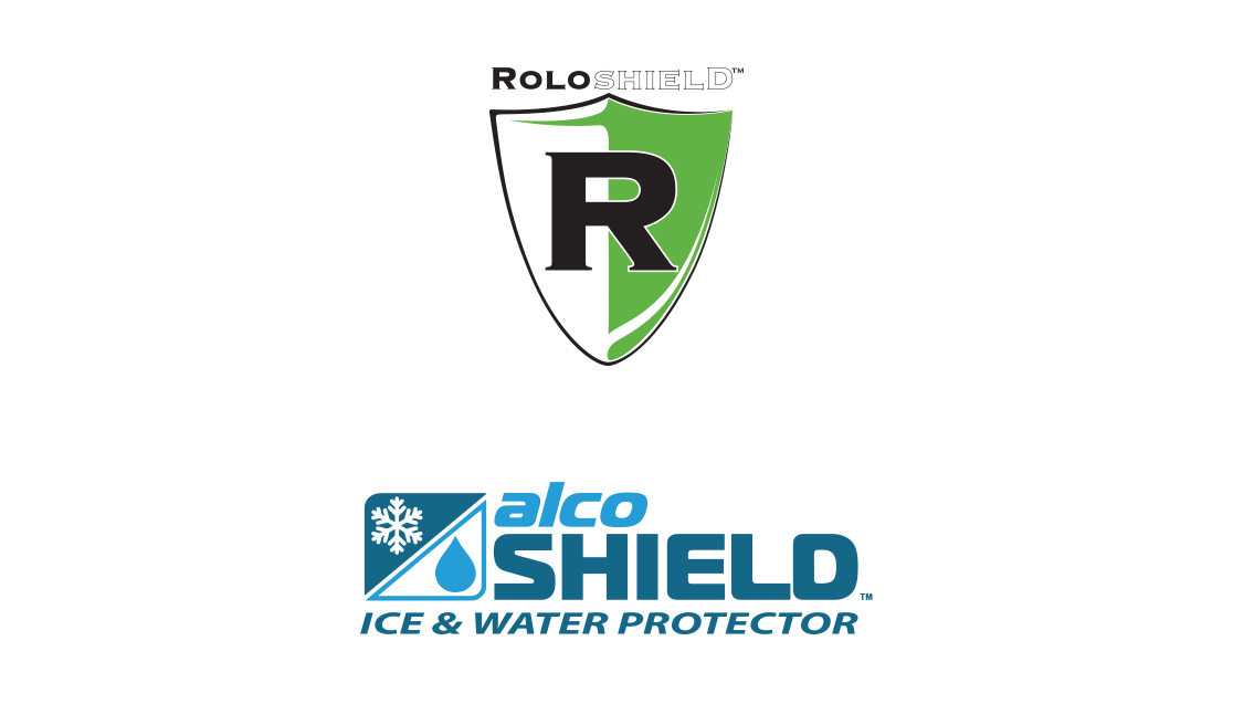 Roloshield and Alcoshield underlayments for metal roofing logos